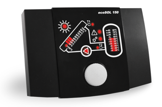 Regulátor ecoSOL 150 černá varianta