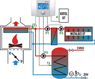 Schéma zapojení regulace hoření ecoKOM 200 Basic